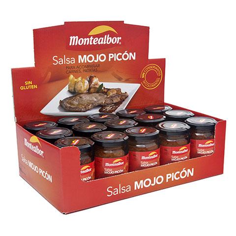 Expositora salsa mojo picón