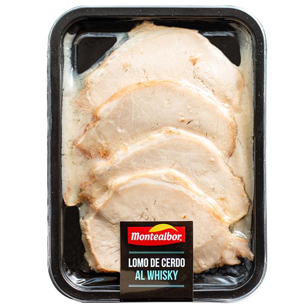 """Fotografia de plato precocinado de Lomo de Cerdo al Whisky Montealbor"""